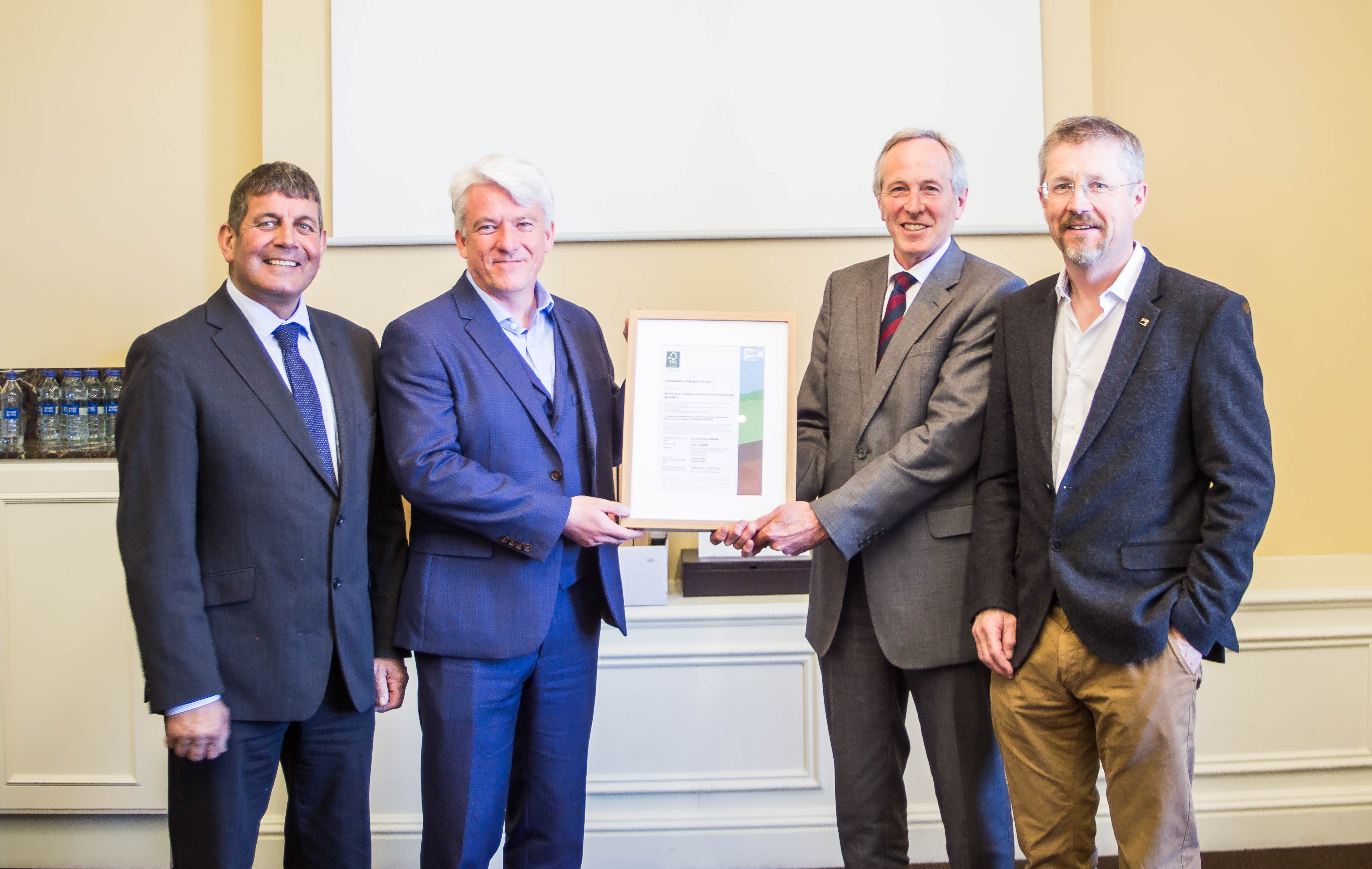 Presentation of Group certificate to NEFCC by Andy Grundy of Soil Association Certification in the presence of Minister of State, Andrew Doyle, TD
